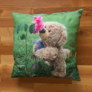 "Polster ""Travelling Teddy Rose – beidseitig"" 45x45cm"