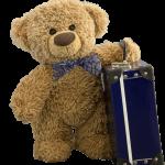 Travelling Teddy mit Koffer