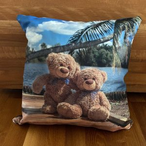"Polster ""Travelling Teddy Kuba"" 45x45cm"