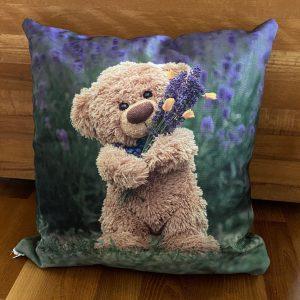 "Polster ""Travelling Teddy Lavendel"" 45x45cm"