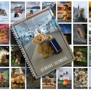 Amazing Weekly Picture Calendar Travelling Teddy 2021 (English Version)