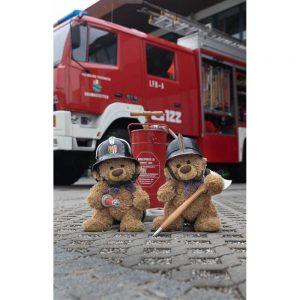 "Badetuch groß ""Travelling Teddy Feuerwehr"" 90x140cm"