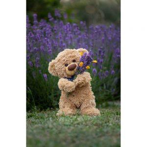 """Badetuch groß """"Travelling Teddy Lavendel"""" 90x140cm"""