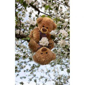 "Badetuch groß ""Travelling Teddy Blütenbaum"" 90x140cm"