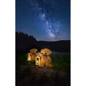 "Badetuch groß ""Travelling Teddy Milchstrasse"" 90x140cm"
