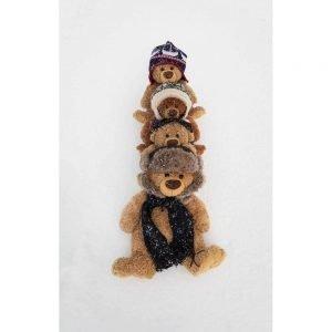 "Badetuch groß ""Travelling Teddy 4-im Schnee"" 90x140cm"