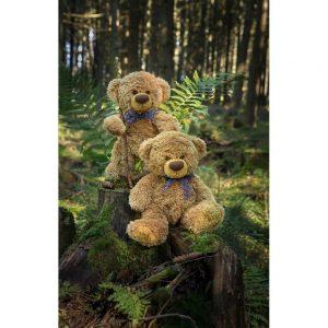 """Badetuch groß """"Travelling Teddy beim Wandern"""" 90x140cm"""