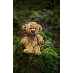 """Badetuch groß """"Travelling Teddy Farn"""" 90x140cm"""