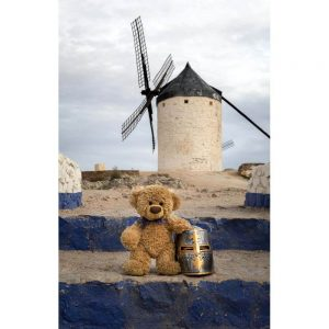 "Badetuch groß ""Travelling Teddy Ritter"" 90x140cm"