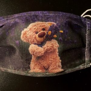 """Maske """"Travelling Teddy Lavendel"""""""