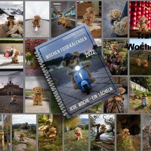 Einmaliges Wochen Foto Kalender Buch Travelling Teddy 2022